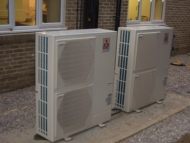 Air source heat pumps for Northumberland offices